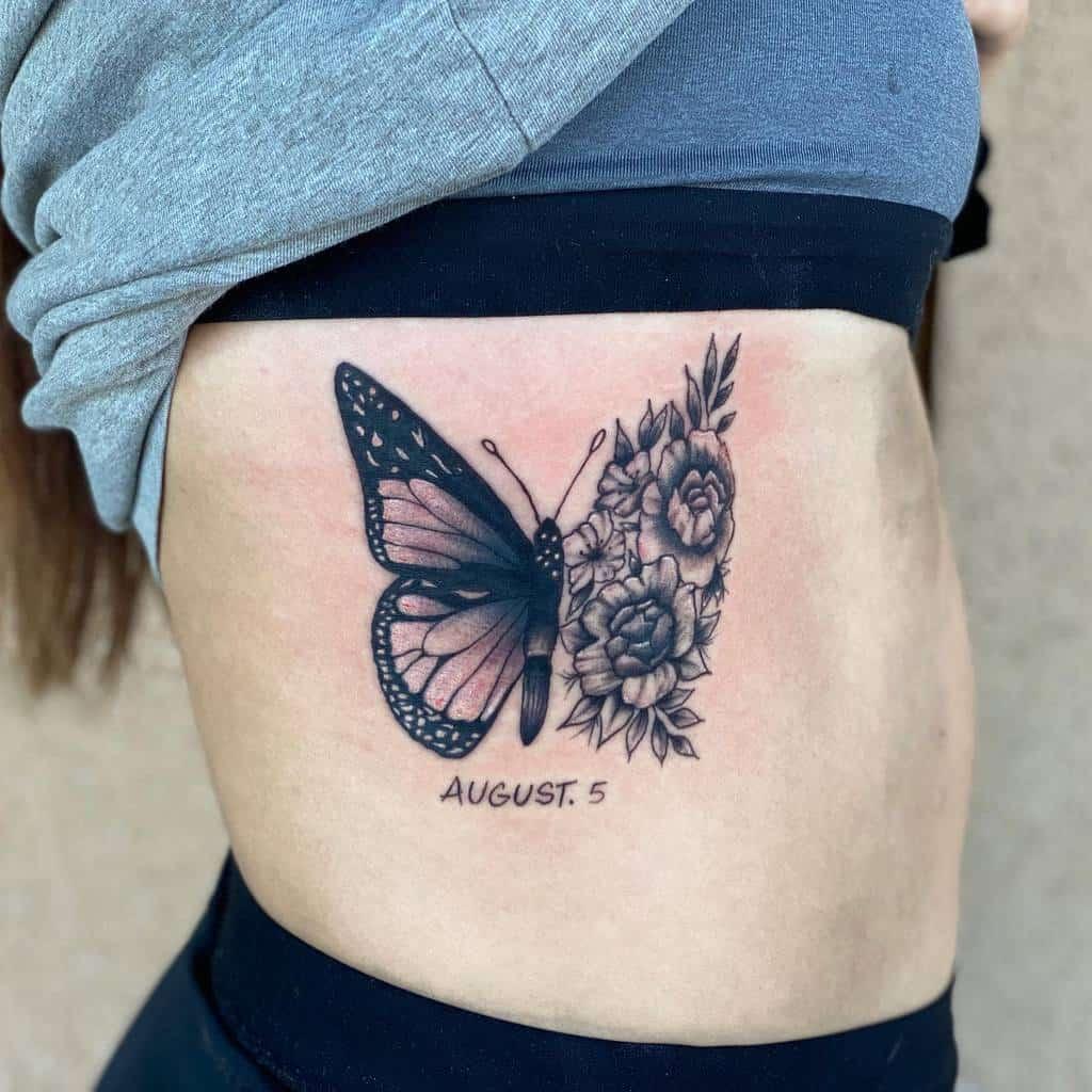 Small Butterfly Rib Tattoos Johnnyavetheartist