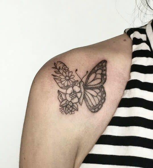 Small Butterfly Shoulder Tattoos Soleotzet Tattoo