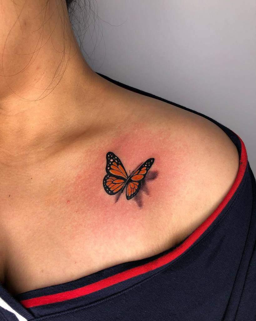 Small Butterfly Shoulder Tattoos Stefanotattooist