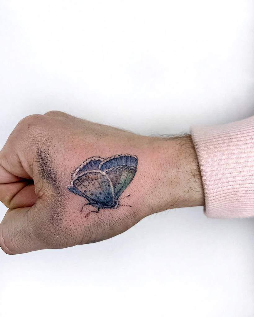 Small Butterfly Tattoo nimketattoo
