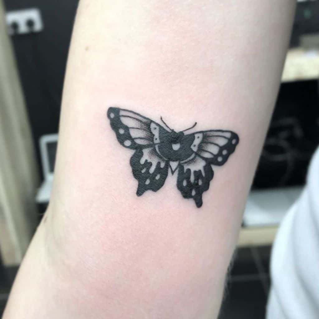 Small Butterfly Upperarm Tattoos Immoralyouth