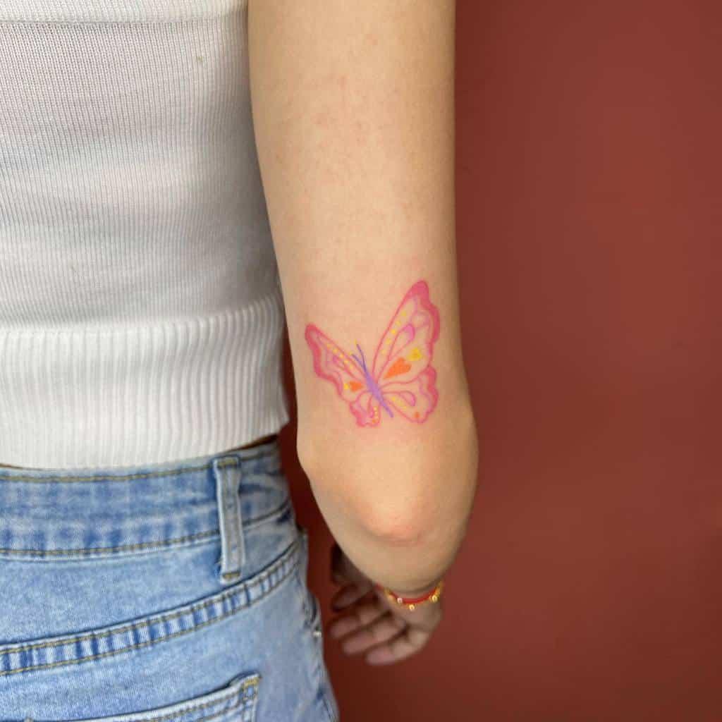 Small Butterfly Upperarm Tattoos Wisyyyyy