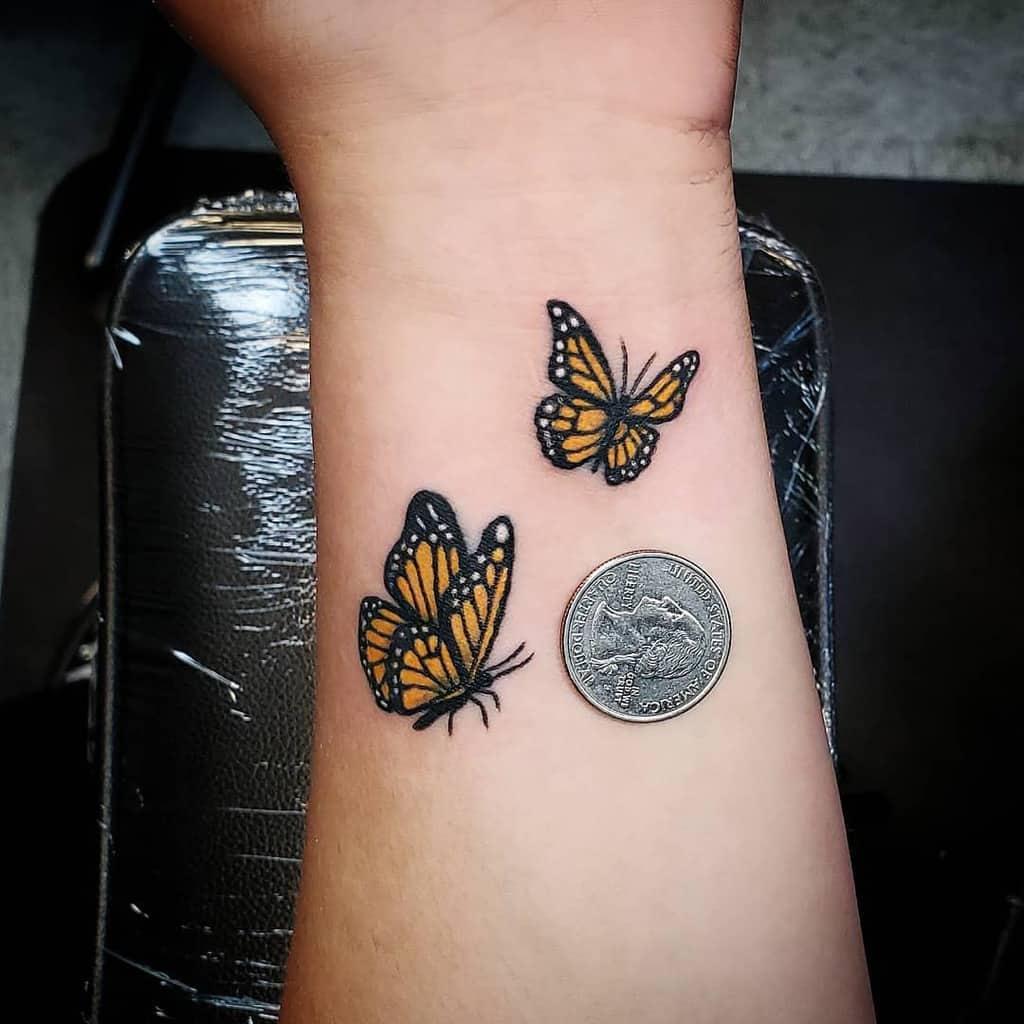 Small Butterfly Wrist Tattoos Johnnybee Art