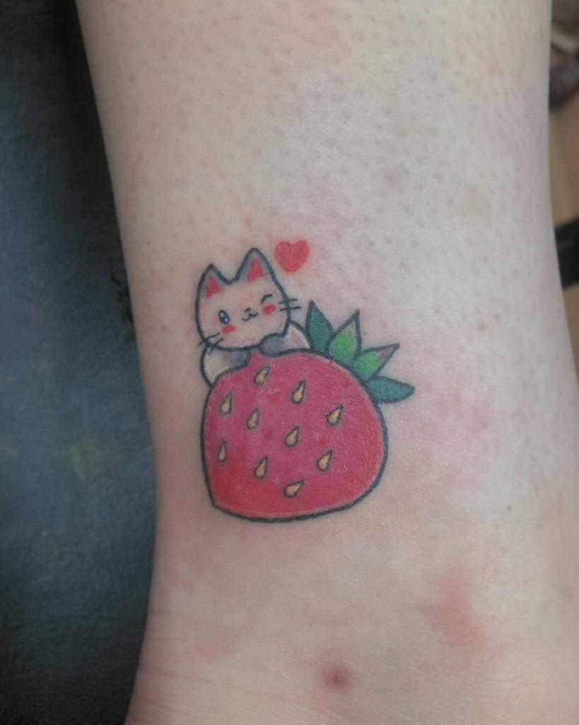 Small Cat Ankle Tattoos itskaaait
