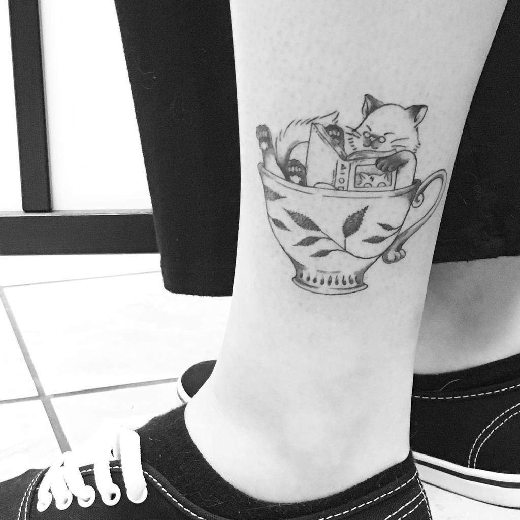 Top 71 Best Small Cat Tattoo Ideas 2020 Inspiration Guide