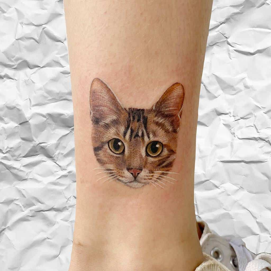 Small Cat Ankle Tattoos tappymao