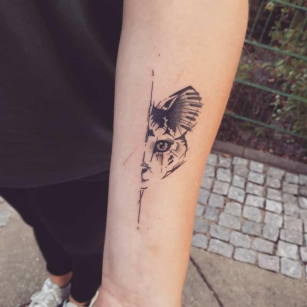 Small Cat Forearm Tattoos jenny_tattooart
