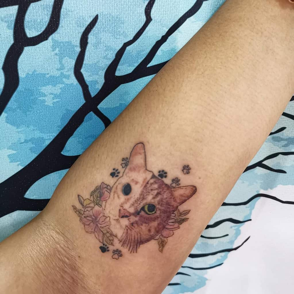 Small Cat Forearm Tattoos tattooswithjoy