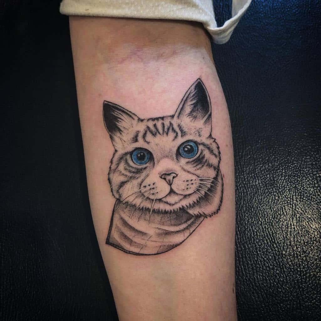 Small Cat Forearm Tattoos willtatts_ink