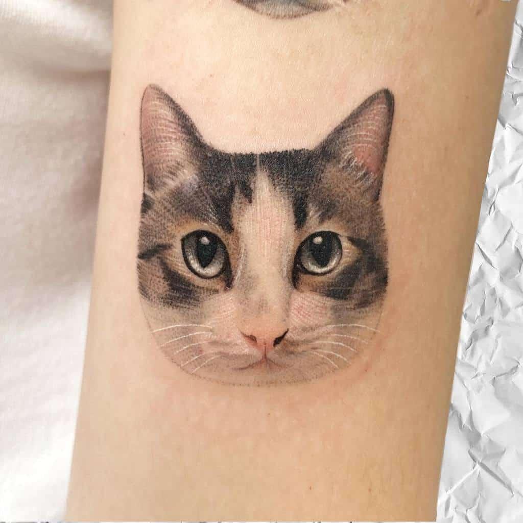 Small Cat Realistic Tattoos 2 tappymao