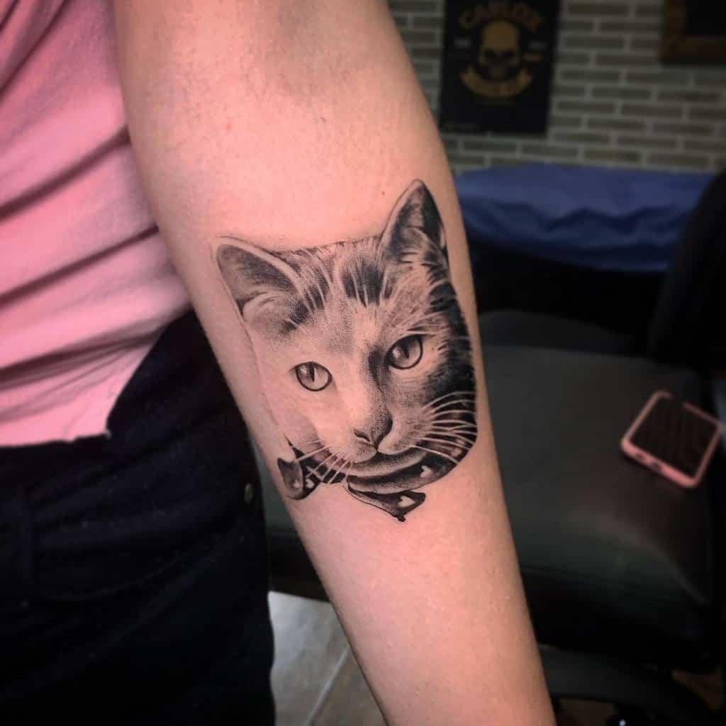 Small Cat Realistic Tattoos asir.de.latorre