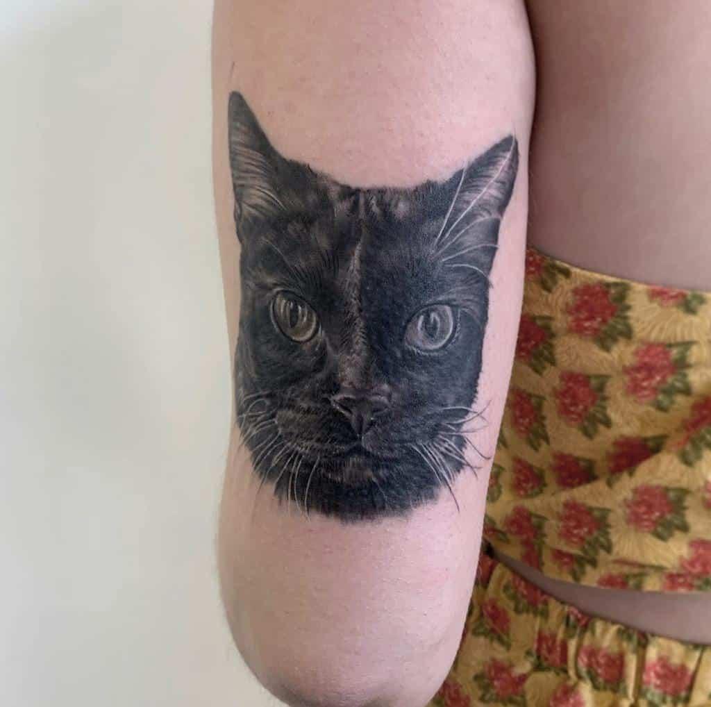Small Cat Realistic Tattoos jordanlentz