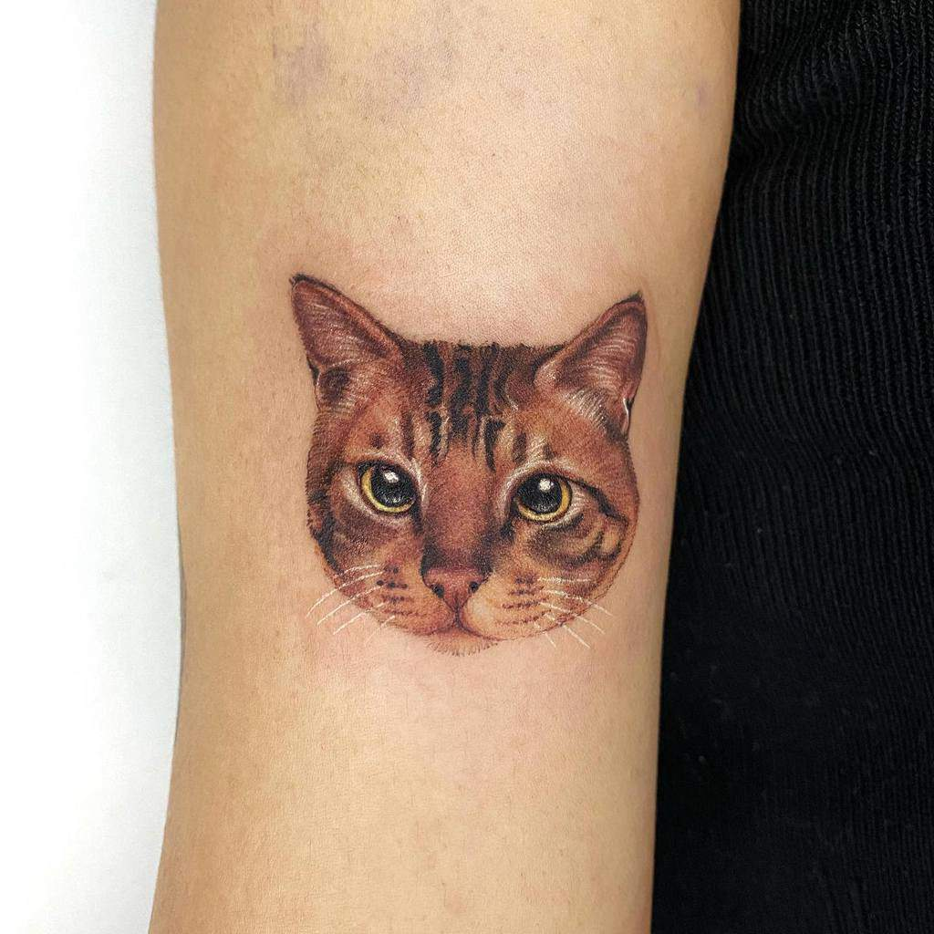 Small Cat Realistic Tattoos tappymao