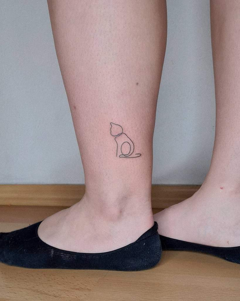 Small Cat Simple Tattoos laskovesmir
