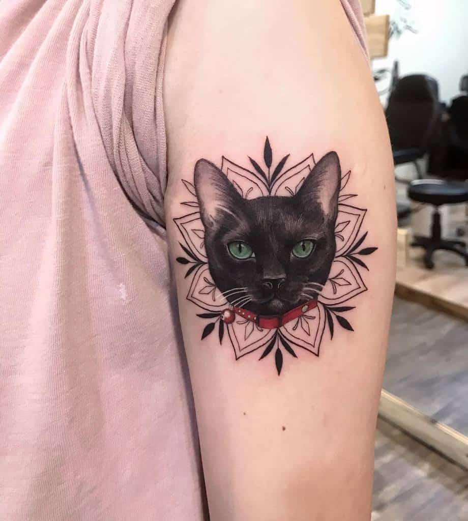 Small Cat Upperarm Tattoos 3 meilu_928