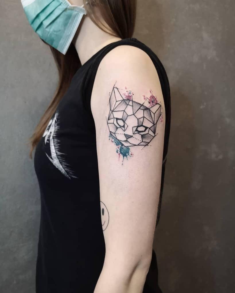 Small Cat Upperarm Tattoos reynink_tattoofuzi