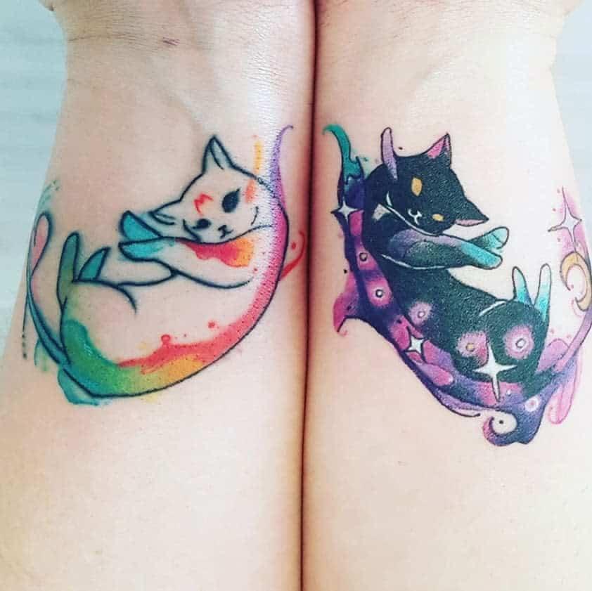 Small Cat Wrist Tattoos veeology