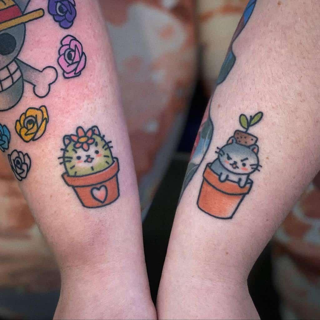 Small Cat Wrist Tattoos xtatianasandbergx