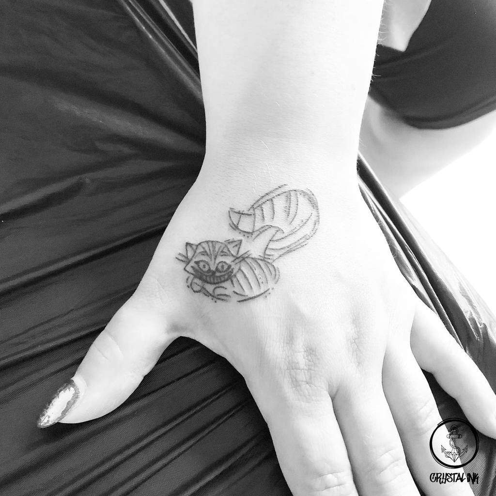 Small Cheshire Cat Tattoo crystalinkbymeli