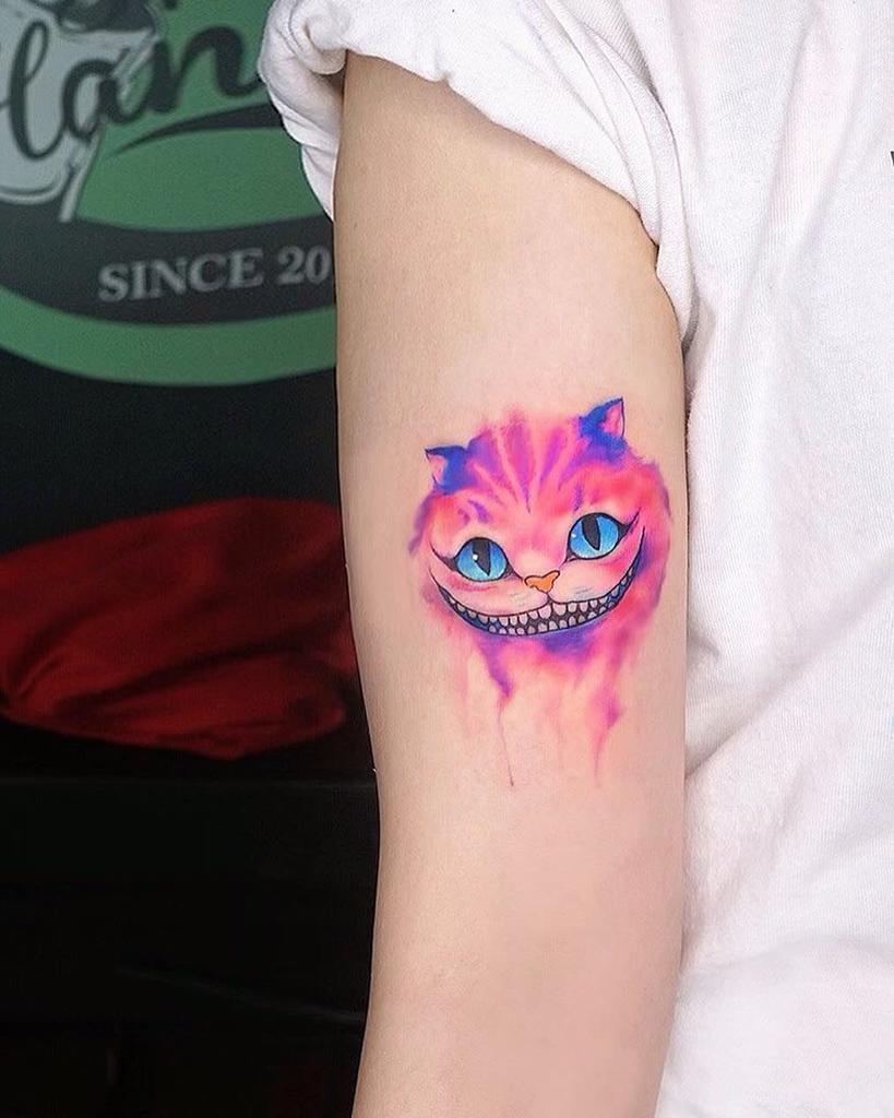 Small Cheshire Cat Tattoo diepsuongg