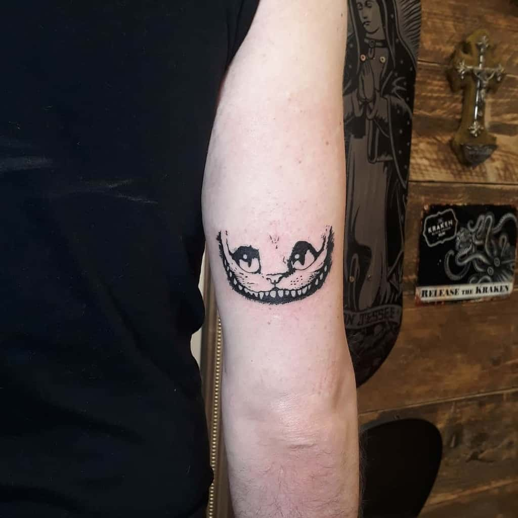 Small Cheshire Cat Tattoo twostabs