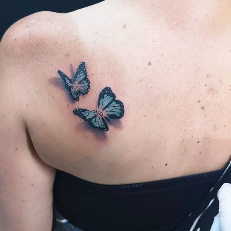 Small Colored Butterfly Tattoos House Of Owls Art