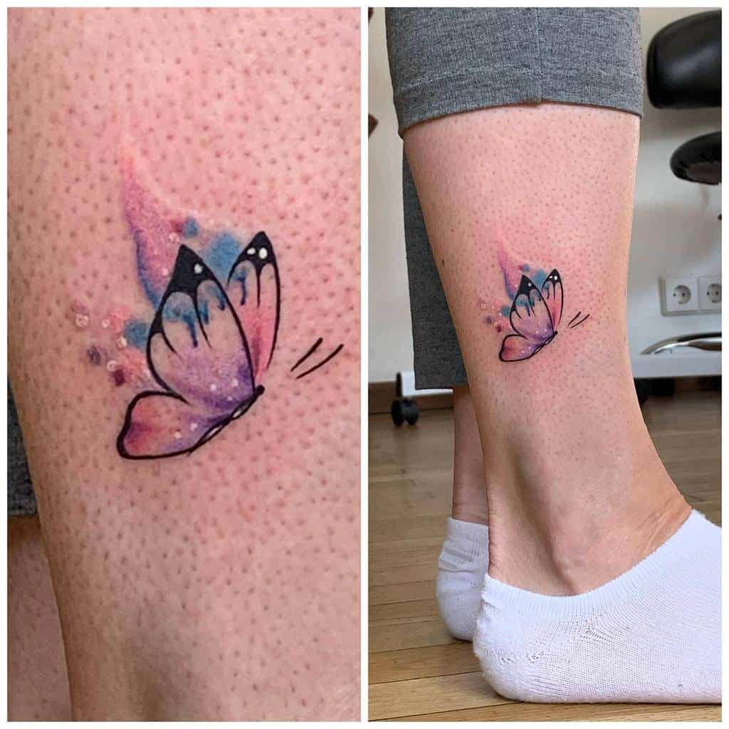 Small Colored Butterfly Tattoos Simone.sollai Missk.tattoo