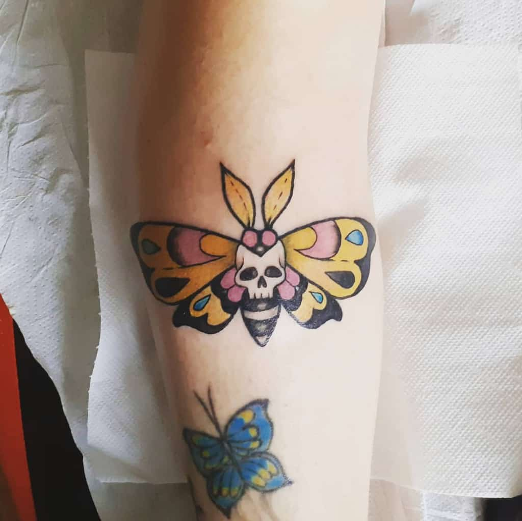 Small Colored Butterfly Tattoos Studiotgtattooepiercing