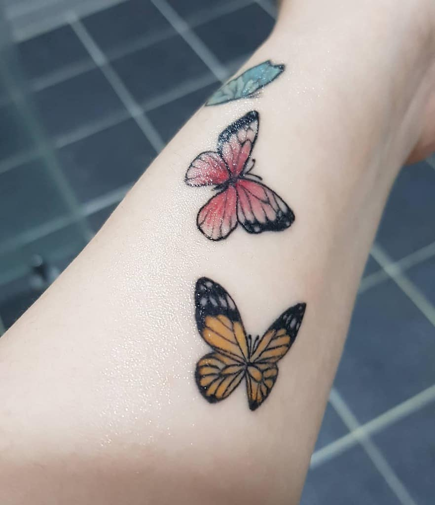Small Colored Butterfly Tattoos Sunny8280