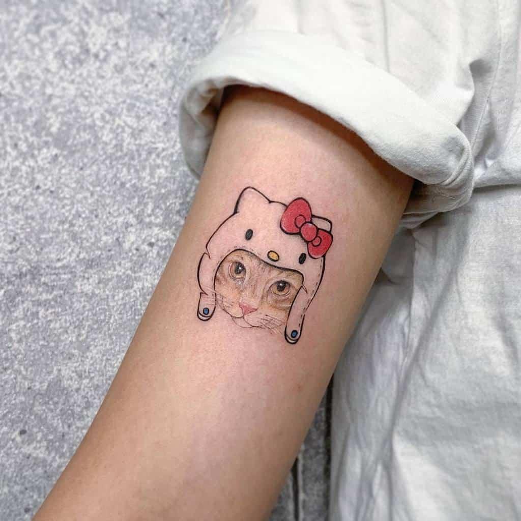 Small Colored Cat Tattoos ttoa225