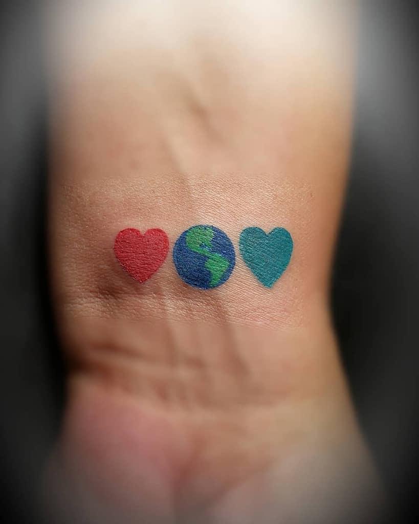 Small Colored Heart Tattoos J Muniz27