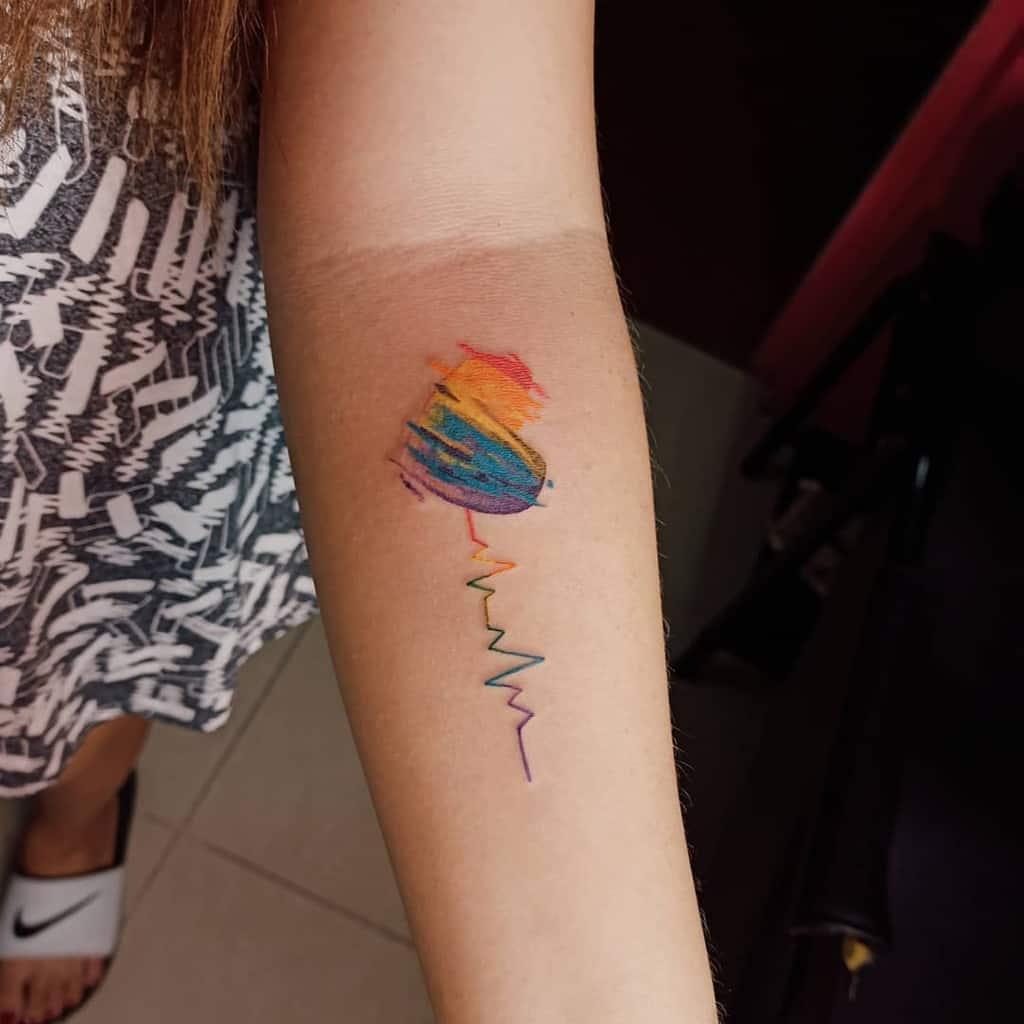 Small Colored Heart Tattoos Loujazcen Tattoo