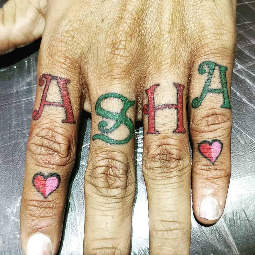 Small Colored Heart Tattoos Nk Tattoos Nirav Brahmbhatt