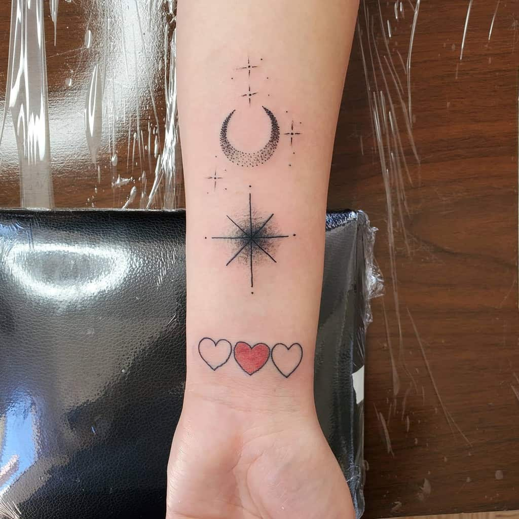 Small Colored Heart Tattoos Octoinktattoos