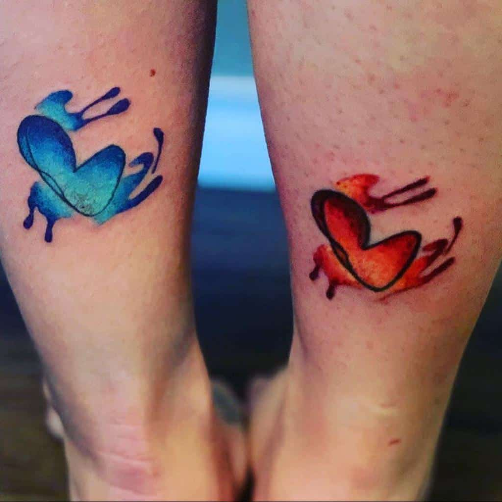 Small Colored Heart Tattoos Sheldonkb34