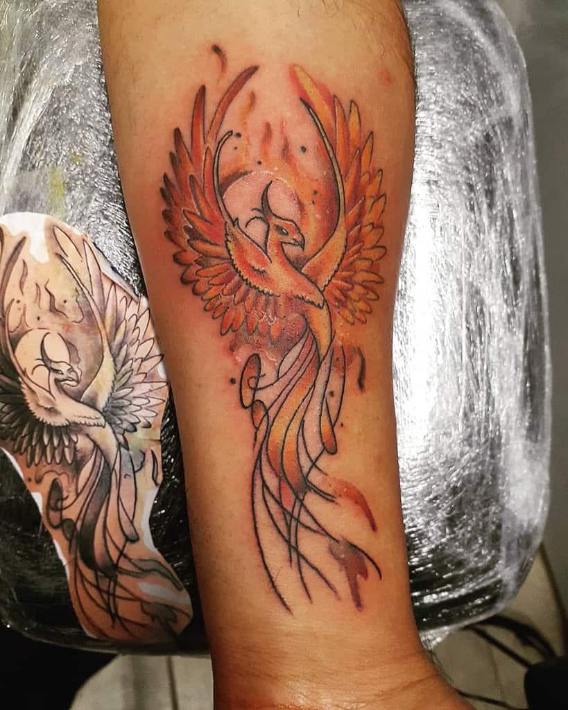 Small Colored Phoenix Tattoos profit_uno