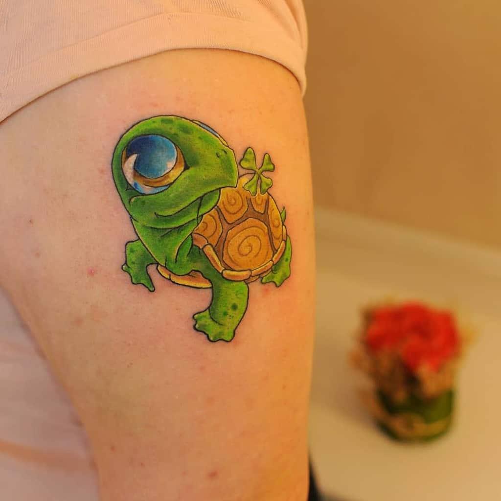 Small Colored Turtle Tattoos oleg_kristallow