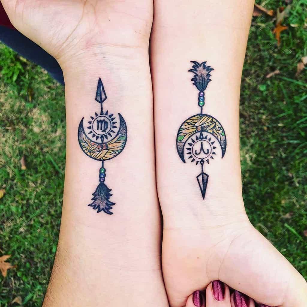 Small Crescent Moon Tattoo wildlingandflora
