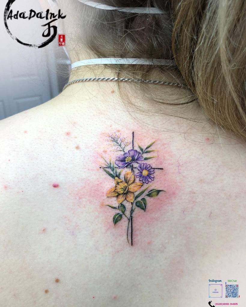 Small Cross Back Tattoo Adadaink Lasvegas