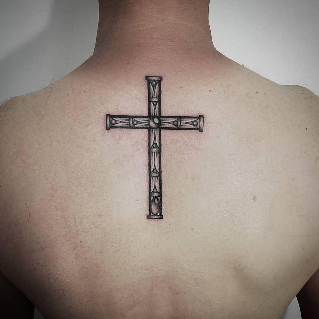 Small Cross Back Tattoo Wendy Whitecat