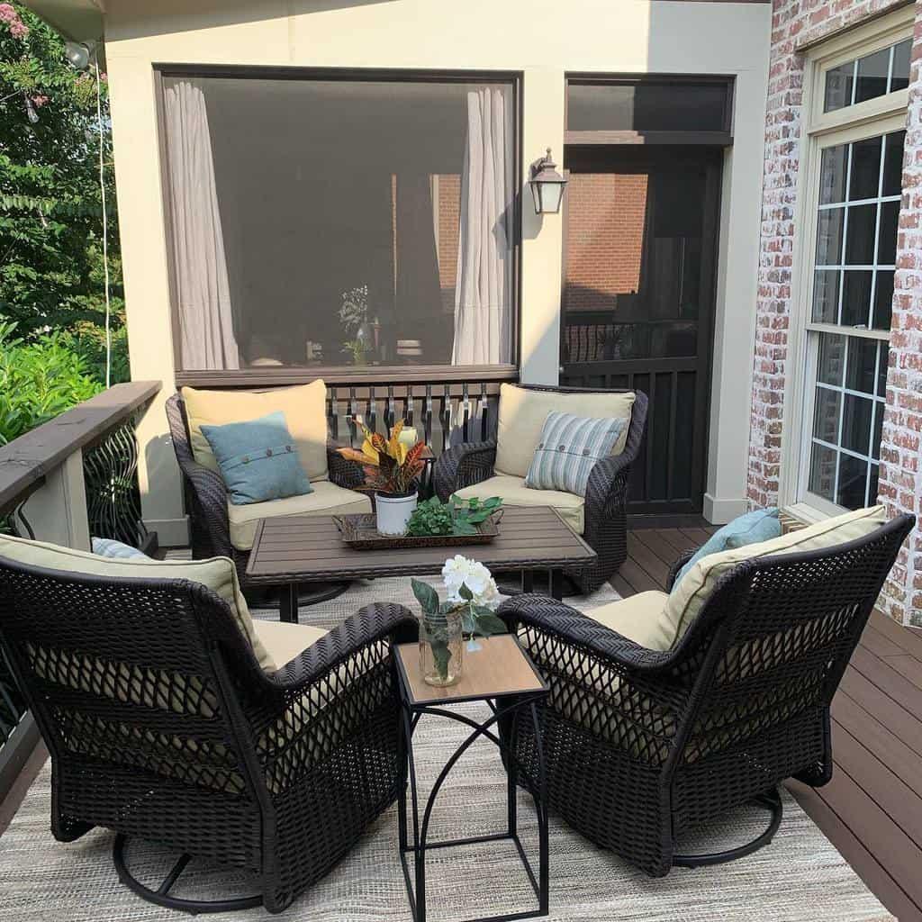 Small Deck Decorating Ideas -frontporchlivinglife