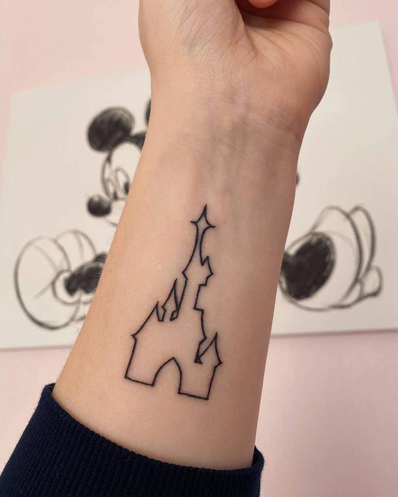 Small Disney Castle Tattoos disney.eve