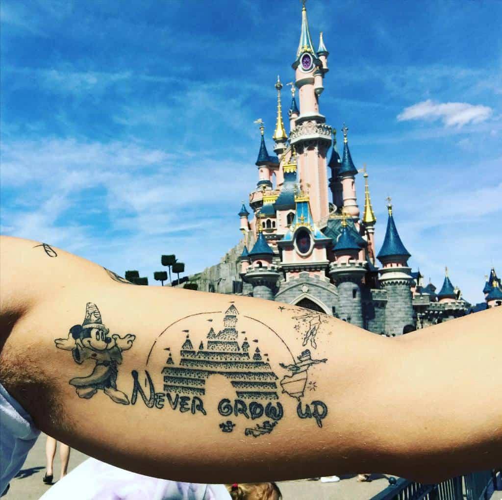 Small Disney Castle Tattoos disneymagicae