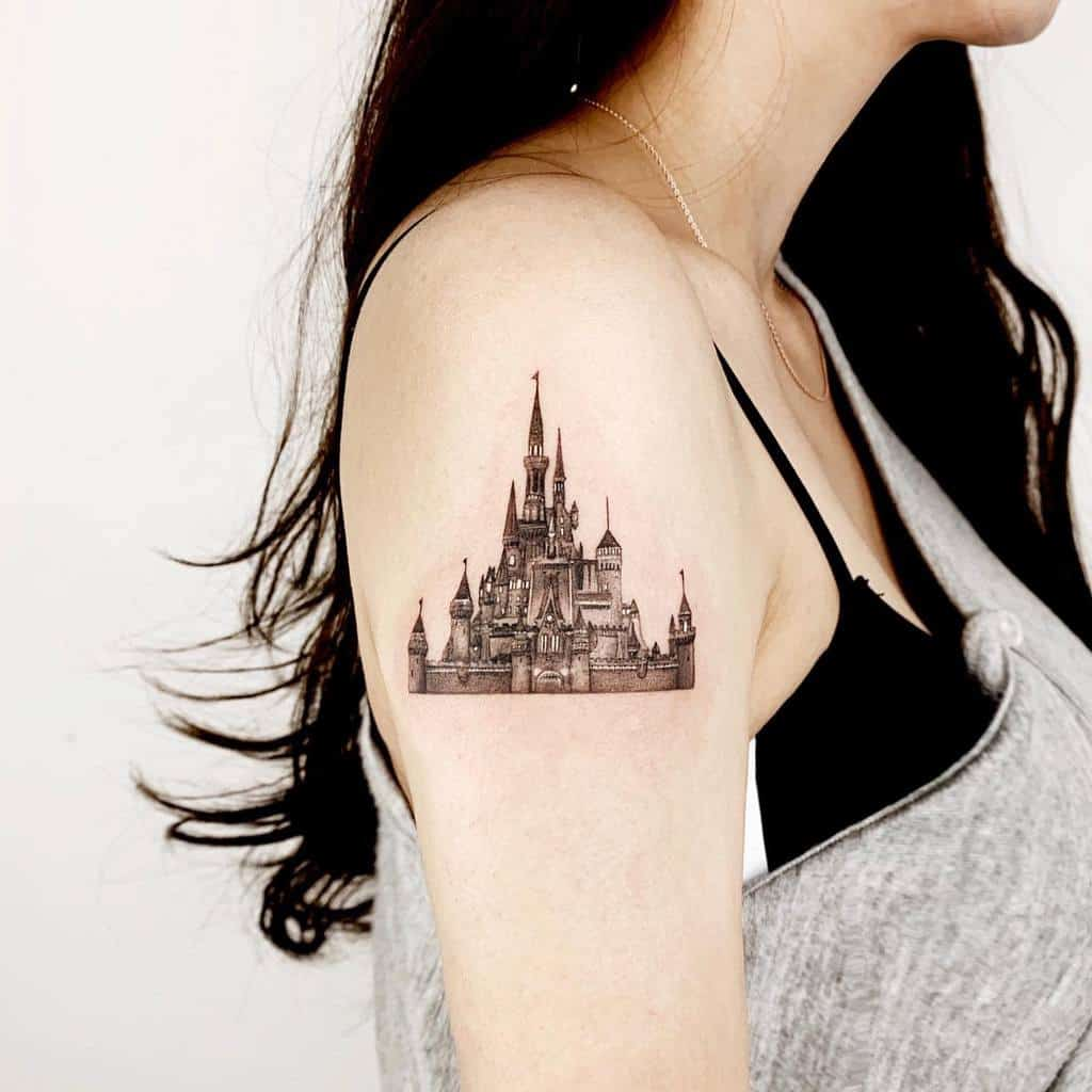 Small Disney Castle Tattoos rudo_tattoo