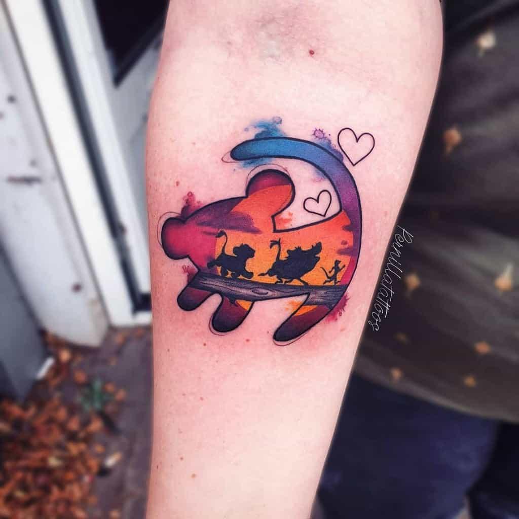 Small Disney Lion King Tattoos 1 pernillatattoos