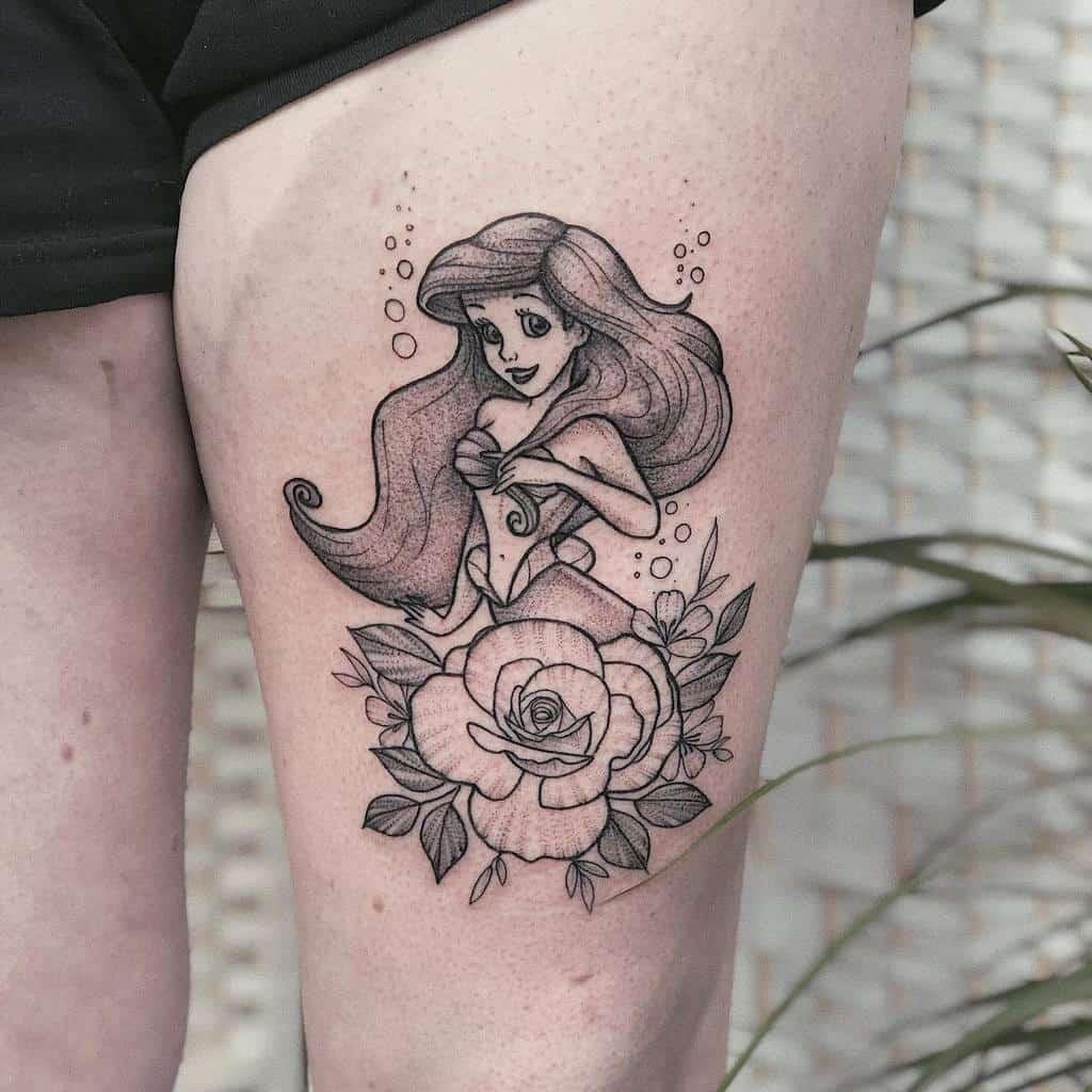 Small Disney Little Mermaid Tattoos lucietattoo