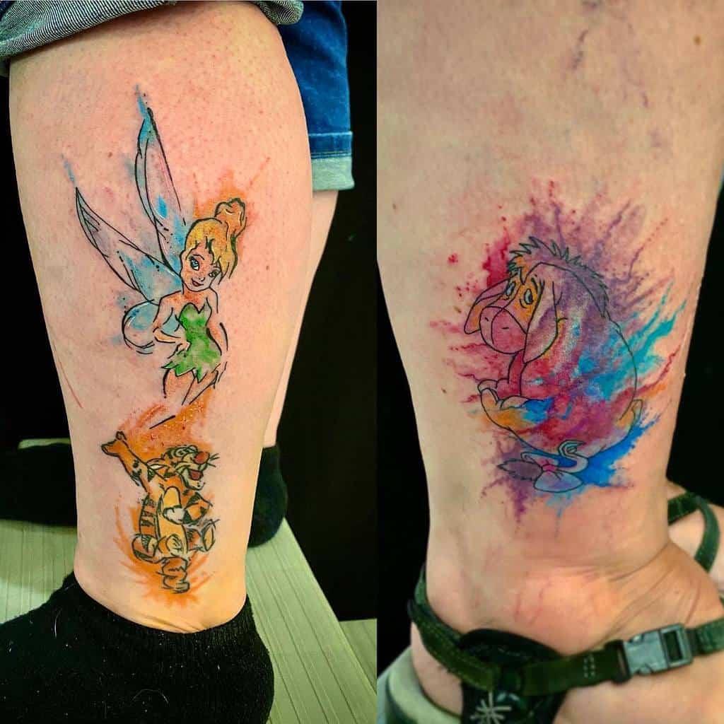 Small Disney Watercolor Tattoos rashatattoo