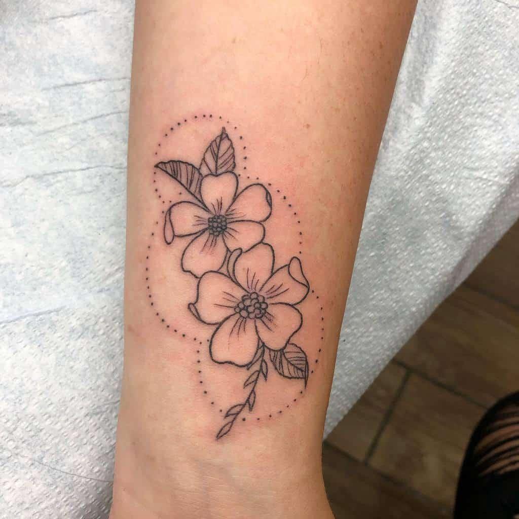 Small Dogwood Flower Tattoo mollsfreeman
