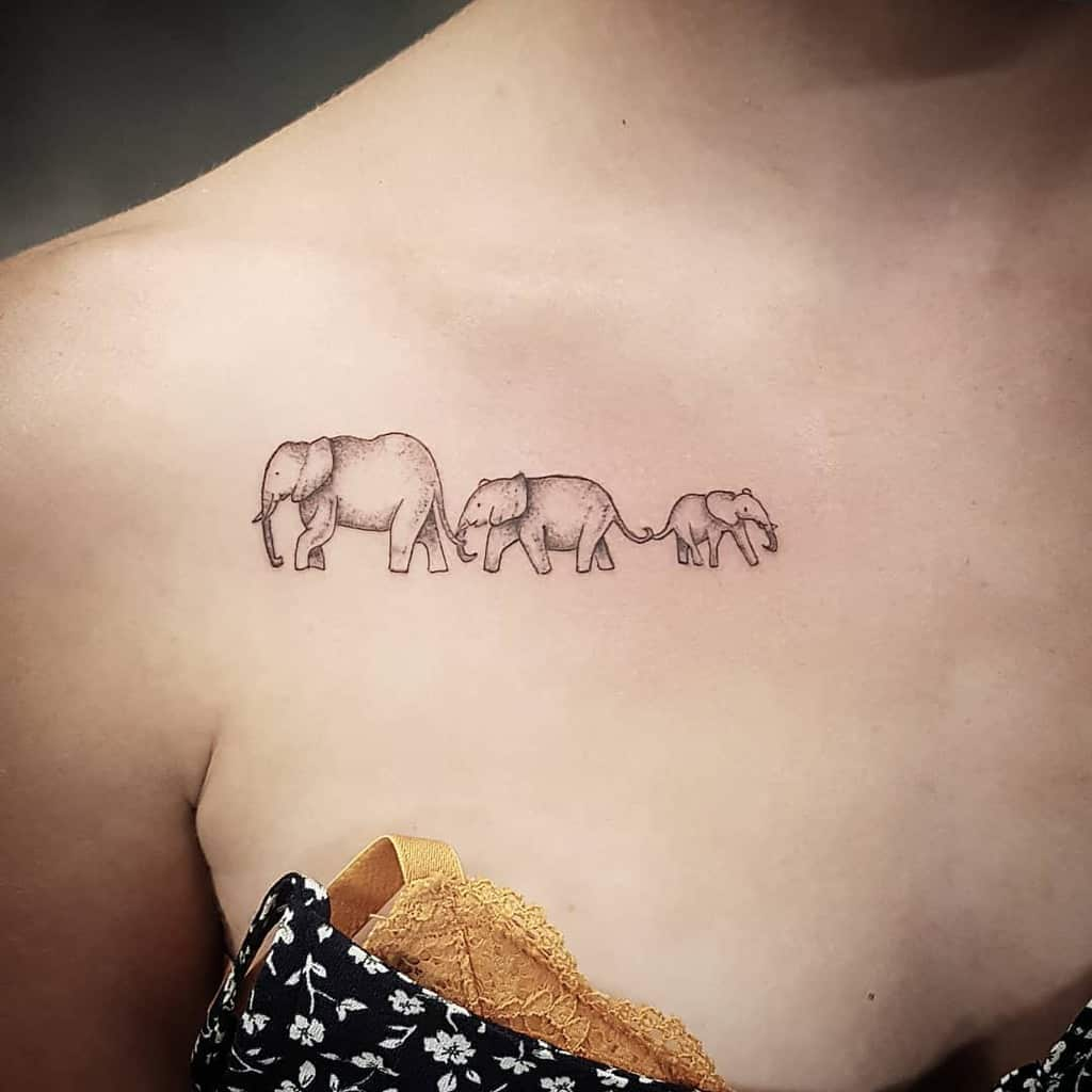 Small Elephant Shoulder Tattoo Flo Venam Tattoo