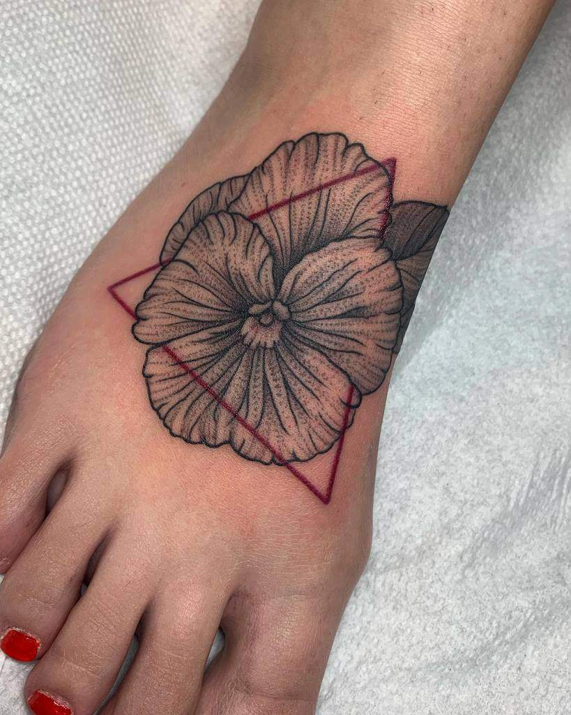 Small Flower Ankle Foot Tattoos Cadbaby